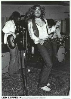 Led Zeppelin Southampton University 1971 Music Poster 24x33