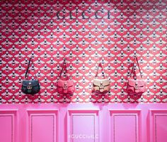 """LANE CRAWFORD,Hong Kong, China, """"Gucci has arrived..... both compelling and deliciously Eccentric"""", pinned by Ton van der Veer"""