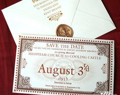 Save the Date Express - Hogwarts Express Ticket Inspired Save the Date SAMPLE