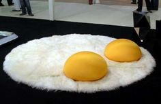 The WordofMouth Sunny Shag Up Rug is Eggcellent #homedecor #rugs trendhunter.com
