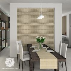 Chic African Tribal Wall Stencil-Allover Pattern for Wallpaper Look | Royal Design Studio