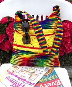 Hey, I found this really awesome Etsy listing at https://www.etsy.com/listing/232248749/crochet-tote-bag-messenger-bag-color
