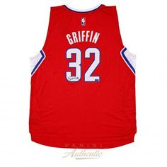 BLAKE GRIFFIN Autographed 2014 Red Clippers Swingman Jersey PANINI - Game Day Legends