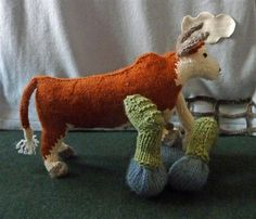 The Archers. muir and osborne @museumofwool TONY ARCHER TRAMPLED BY OTTO THE BULL #knitR4@museumofwool