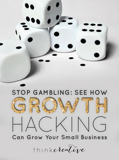 Stop Gambling: See How Growth Hacking Can Grow Your Small Business — Think Creative Collective Marketing Services, Growth Hacking, Business Inspiration, Business Ideas, Hacks, Breakfast For Kids, Growing Your Business, Blog Tips, Online Business