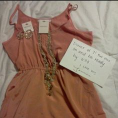 Thats really cute! But I don't think thats a guys handwriting.