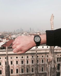 On top of the city. Nixon Time Teller watch  Clean lines cut through cloudy philosophy, while its simple, high concept design keeps things precise.  #Nixon #Watch #TimeTeller  #men #City #rooftop