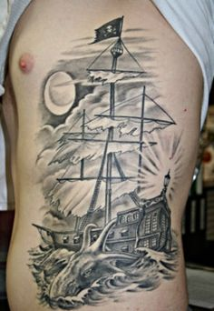 Pirate Ship Tattoo i want something like this way bad