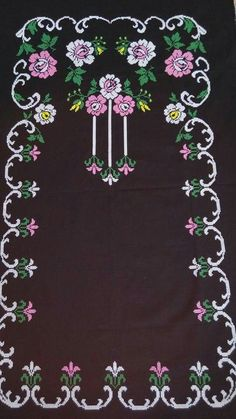 This Pin was discovered by HUZ Embroidery Stitches, Hand Embroidery, Diy And Crafts, Arts And Crafts, Palestinian Embroidery, Bargello, Crochet Doilies, Cross Stitch Patterns, Projects To Try