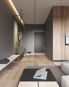 Swipe Left and Enjoy this warm and stylish apartment 😍 📌 Tag a friend to share! __ Apartment for a Bachelor designed… Loft Interior, Office Interior Design, Apartment Interior, Apartment Design, Office Interiors, Modern Interior, Interior Architecture, Architecture Courtyard, Apartment Styles