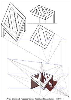 Geometria descrittiva-هندسة وصفية teoria delle ombre-نظرية الظلال prospettiva-منظور