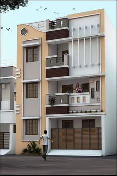 3 Storey House Plans - 16 3 Storey House Plans, House Design Plan 7 with 5 Bedrooms House Outside Design, House Front Design, Small House Design, 3 Storey House Design, Duplex House Design, Apartment Design, Apartment Living, Living Room, Duplex Apartment