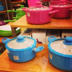 Hey, pastel-colored pots! #smdeptstore #kitchenware