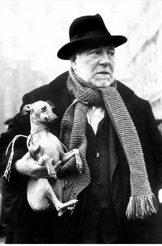 "haha, look at that awkward pose like ""I'll just hang on a m-m-minute or two w-w-wwe'll be there soon right?"" Jean Gabin and his dog"