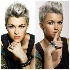 I just love this haircut! Definitely one of my favourites for a new haircut. Pictured: Ruby Rose