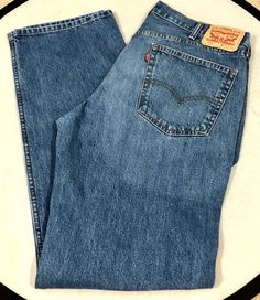 490fa22d074 Levis 559 Mens Jeans Blue Light Wash 38 x 34 #fashion #clothing #shoes