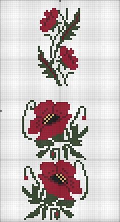 Embroidery for blouses Cross Stitch Bookmarks, Cross Stitch Borders, Cross Stitch Flowers, Counted Cross Stitch Patterns, Cross Stitching, Embroidery Stitches Tutorial, Embroidery Patterns, Hand Embroidery, Loom Patterns