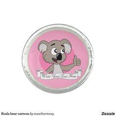 Koala bear cartoon photo ring