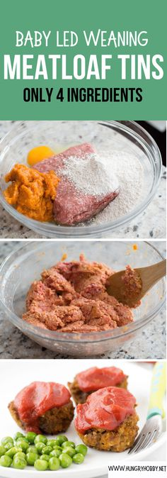Baby Muffins, Meatloaf Recipes, Beef Recipes, Healthy Recipes, Cod Recipes, Chicken Recipes, Baby Puree Recipes, Baby Food Recipes, Meat Baby Food