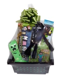 Filled minecraft easter basket 15 pieces video game creeper zombie ultimate minecraft gift basket perfect for get well soon birthday christmas easter or other occasion negle Images