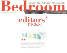 Octaspring was selected as an Editor's pick in the Spring 2013 edition of Bedroom Magazine