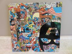 Captain America comic book collage / Marvel / Superhero / Avenger by VsCraftCorner on Etsy