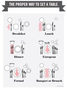 off, make sure that your table settings are fit for a queen. First off, make sure that your table settings are fit for a queen. Dinner Party Decorations, Dinner Party Table, Elegant Dinner Party, Dinner Parties, Dining Etiquette, Brunch, Birthday Dinners, Party Entertainment, Host A Party