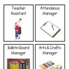 Looking for printable classroom jobs? These cute classroom job cards are in photo form to help create a visual reference for students as to their j. Classroom Helpers, Classroom Jobs, Classroom Setting, Classroom Organization, Classroom Management, Back 2 School, Beginning Of The School Year, School Stuff, Helper Chart