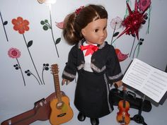 Mariachi charra suit traje black gabardine silver trim for American Girl doll Cinco de Mayo handmade Ag Doll Clothes, Doll Clothes Patterns, Clothing Patterns, Mariachi Suit, Girl Dolls, American Girl, Dress Up, Suits, Girl Costumes