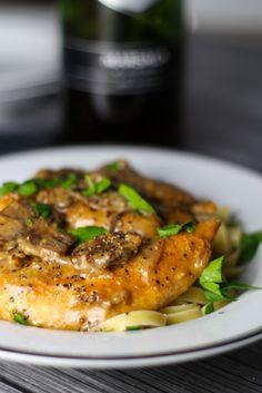 chicken with mustard marscapone marsala.