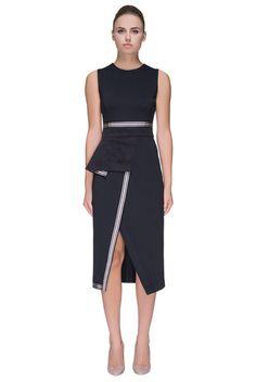 'Posh Rush' Front Slit, Sleeveless Dress