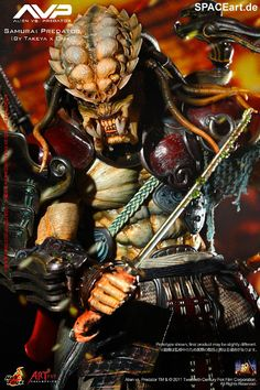 Alien vs. Predator: Samurai Predator - Deluxe Figur, Fertig-Modell, http://spaceart.de/produkte/avp002.php