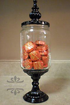 creative confetti: Super Glue and a Pickle Jar Too