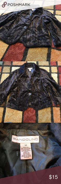 Bandolino fake fur brown blazer size 12 Bandolino...size 12...excellent condition.....fake fur Bandolino Jackets & Coats Blazers
