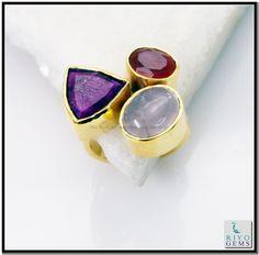 Multi Red Onyx Gem 18 Kt Gold Plated Eternity Ring Sz 7 Gprmul7-5261 http://www.riyogems.com