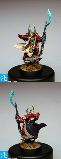 CoolMiniOrNot - Ahzek Ahriman, Chief Librarian of the Thousand Sons Warhammer 40k Figures, Warhammer Paint, Warhammer Models, Warhammer 40k Miniatures, Warhammer Fantasy, Warhammer 40000, Chaos Legion, Chaos 40k, Sons Of Horus