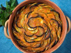 Proven\u00e7al Tian (Eggplant, Zucchini, Squash, and Tomato Casserole)
