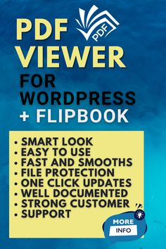 Click to learn PDF viewer for WordPress + FlipBook