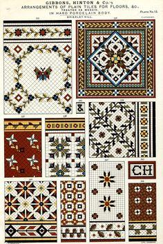 Arrangements of plain tiles for floors, &c. by Gibbons, Hinton & Co.