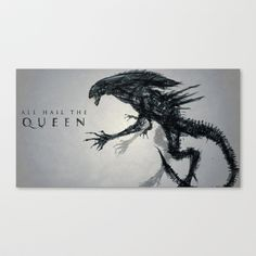 All Hail the Queen Stretched Canvas by Justin Currie - $85.00