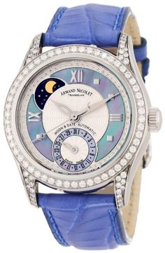Armand Nicolet Women's 9151L-AK-P915VL8 M03 Classic Automatic Stainless-Steel with Diamonds Watch