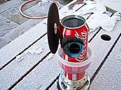 Coca Cola Can Enginesimple stirling hot air engine made at home with simple tools 2 cans http://www.youtube.com/watch?v=jJ3eq-...  http://www.youtube.com/watch?v=tQ5LWo...