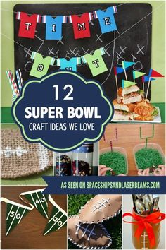 12 Super Bowl Craft Ideas We Love! Boys Will Love These Fun Crafts, Pin For Your Next Party!