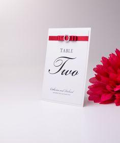 Wedding Table number/name #wedding #weddingplanner #weddingplanning #redribbon #bow #gettingmarried #handmade #weddingstationery