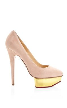 Shop Cindy Suede Platform Pumps by Charlotte Olympia Now Available on Moda Operandi