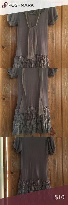 Selling this Gray dress on Poshmark! My username is: shoppingfox. #shopmycloset #poshmark #fashion #shopping #style #forsale #Dresses & Skirts