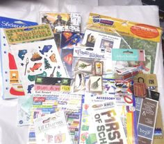 Scrapbooking lot mixed items stickers boys travel animals baby school family  #JoleesBoutiqueMixed