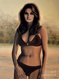 Raquel Welch 2 Painting by Paul Meijering