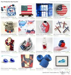 Fabulous Patriotic Finds for the Fourth  https://www.etsy.com/treasury/MjI1ODMwODZ8MjcyNjQzNDM4Ng/fun-finds-for-the-fourth #fourthofjuly #holiday #redwhiteblue