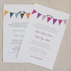 Bunting Wedding Invitation Printable